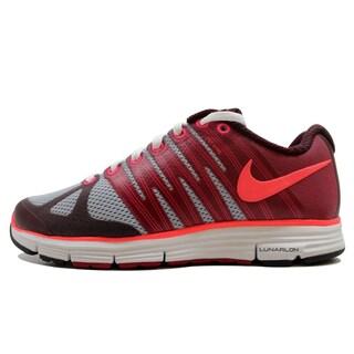 Nike Women's Lunarelite + 2 Wolf Grey/Solar Red-Deep Bergundy 429783-066 Size 9.5