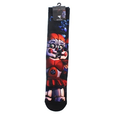 Five Nights at Freddy's Circus Baby Crew Socks - Black