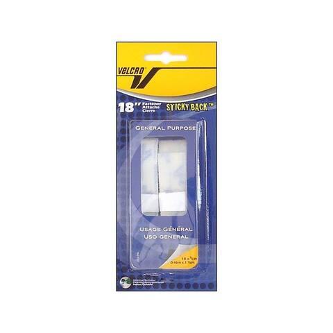 90079 velcro sticky back tape 3 4x18 white