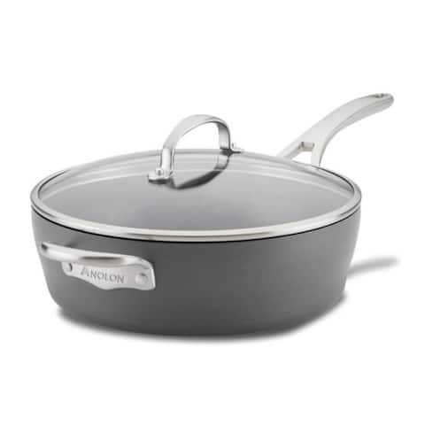 Anolon 81173 Allure 5-Quart Saute with Helper Handle