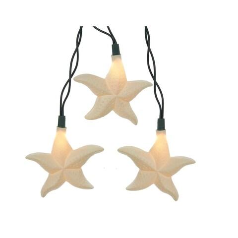 12' Cream White Nautical Themed Decorative Starfish Design Party Lights