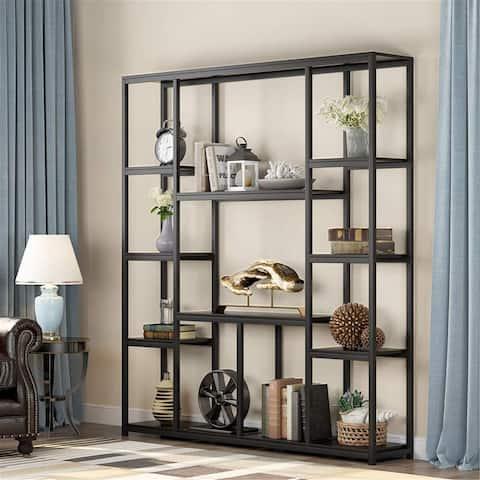 Industrial bookshelf display shelf
