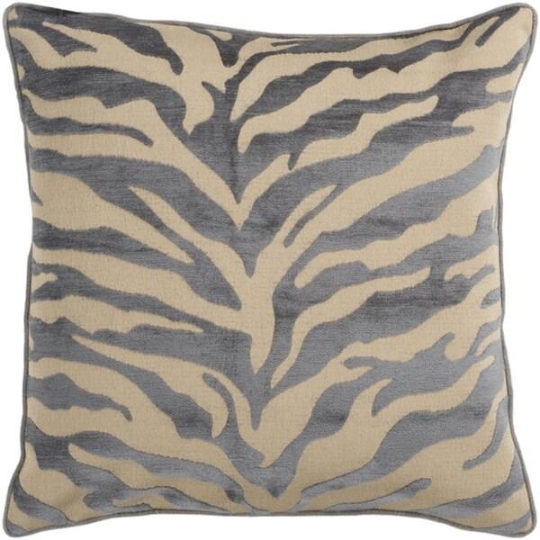 "22"" Bluish Gray and Beige Hot Animal Print Decorative Throw Pillow"