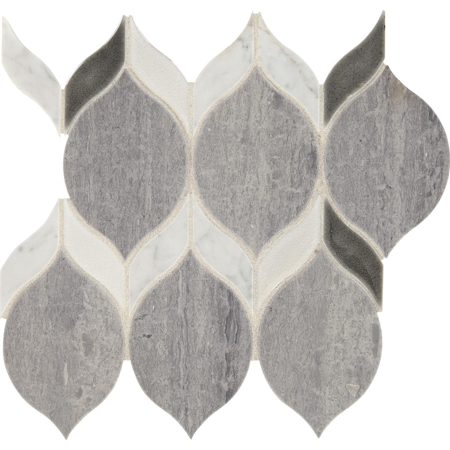 Daltile Dadblleafms1p Fonte 3 X 6 Marque Rain Drop Mosaic Wall Overstock 30302988