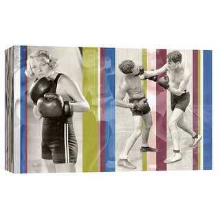 """PTM Images 9-102225  PTM Canvas Collection 8"""" x 10"""" - """"Vintage Boxing"""" Giclee Boxing Art Print on Canvas"""
