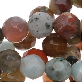 Gemstone Bead Lot Mix 6mm Faceted Round Beads - 15.5 Inch Strand