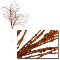 "29"" Decorative Burnt Orange Sparkle Berry Christmas Crafting Spray"