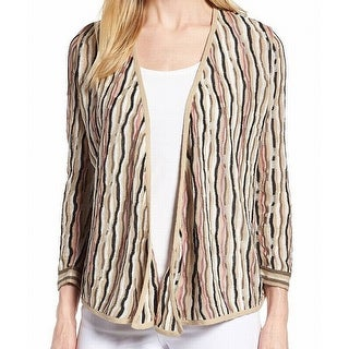 Nic + Zoe Beige Womens Size Small S Knitted Cardigan Sweater