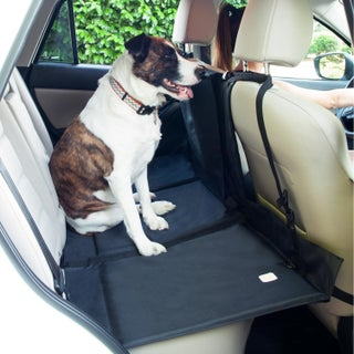Frontpet Backseat Pet Bridge - Ideal for Trucks, SUVs, and Full Sized Sedans Dog Car Seat Extender Platform Cover Barrier Divid