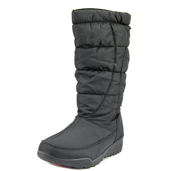 Kamik Nice Women Round Toe Canvas Black Snow Boot