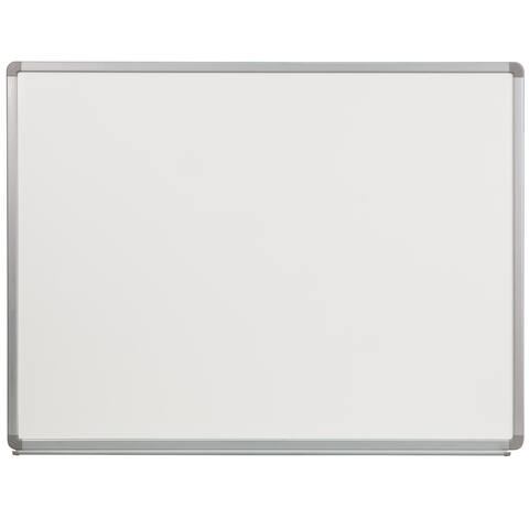 "4-foot x 3-foot Porcelain Magnetic Marker Board - 48""W x 36""H"