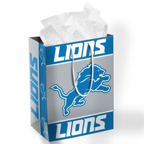 Detroit Lions Gift Bag Medium - 13x10x5.5 inches
