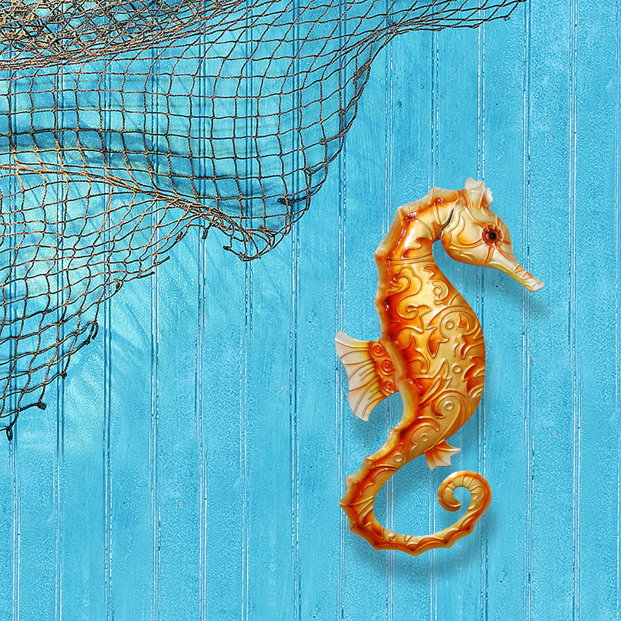 Wall Seahorse Orange 6 X 1 X 12 Overstock 18801955