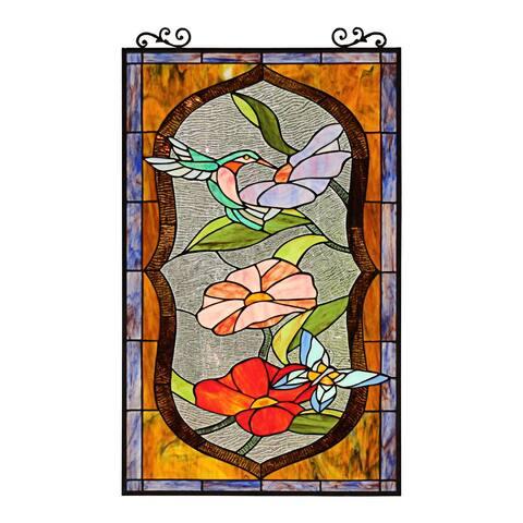 Bird/ Butterfly/ Floral Design Window Panel/ Suncatcher