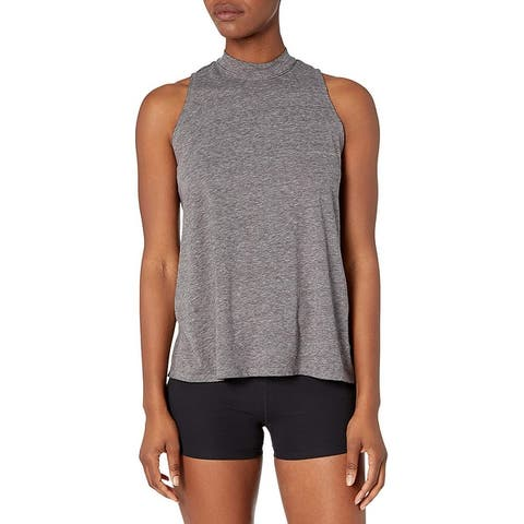 Brand - Core 10 Women's Tri-Blend Mock Neck Workout Tank
