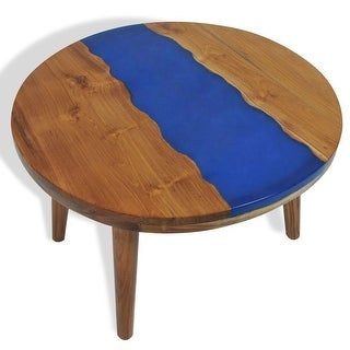 "vidaXL Coffee Table Teak Resin 23.6""x15.7"""