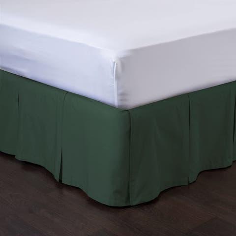 Detachable Bedskirt - Easy on/Easy Off Pleated Bed Skirt - Blissford