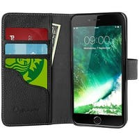 i-Blason-iPhone 7 Plus Case, Wallet Case Credit Card ID Holders-Black