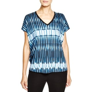 Vince Womens Casual Top Stretch Tie-Dye