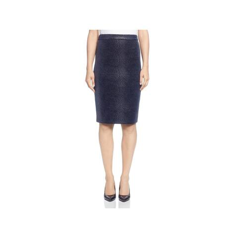 T Tahari Womens Pencil Skirt Snake Print Knee-Length