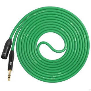 LyxPro 1/4 TRS to XLR Male Microphone Cable - 20 Ft - for Professional Microphones and Devices (Option: Green)