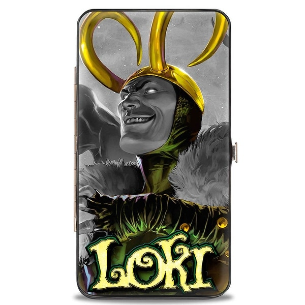 Marvel Avengers Siege Loki #1 Cover Pose Grays Greens Yellows Hinged Wallet - One Size Fits most