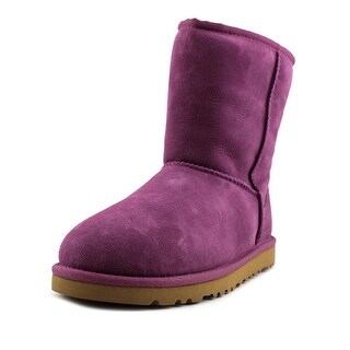 Ugg Australia Classic Short Youth Round Toe Suede Purple Winter Boot