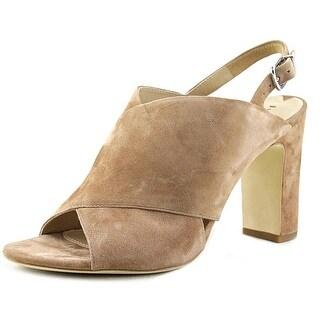 Via Spiga Amya Women Open Toe Suede Tan Sandals