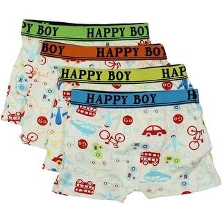 Happy Boy Boys 4PK Boxer Briefs - 4-6