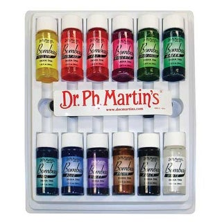 Dr. Ph. Martin's - Bombay India Ink Set - 12-Color Set #1 - .5 oz. Bottles