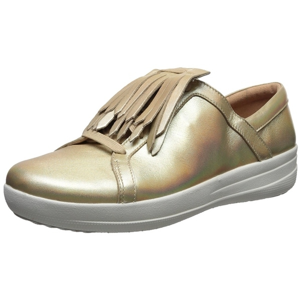 FitFlop Women's F-Sporty Ii Lace up Fringe Sneaker - Gold Iridescent - 7