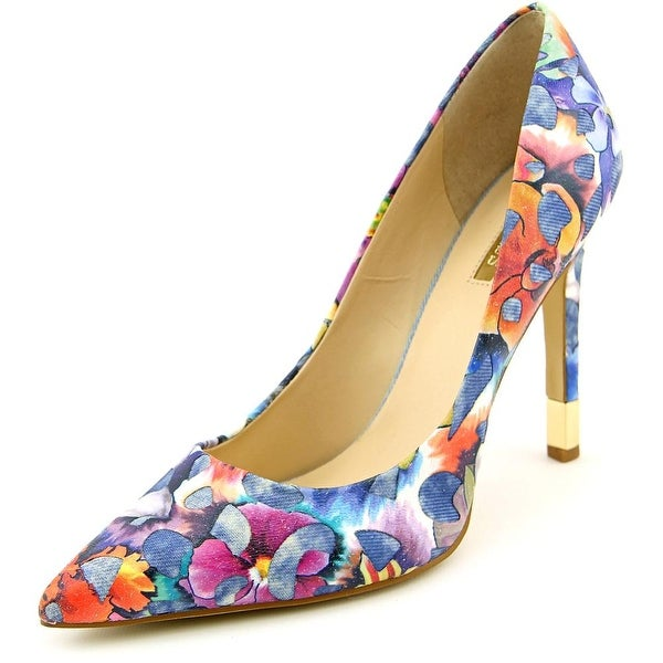 Guess Babbitta 3 Women Pointed Toe Canvas Multi Color Heels