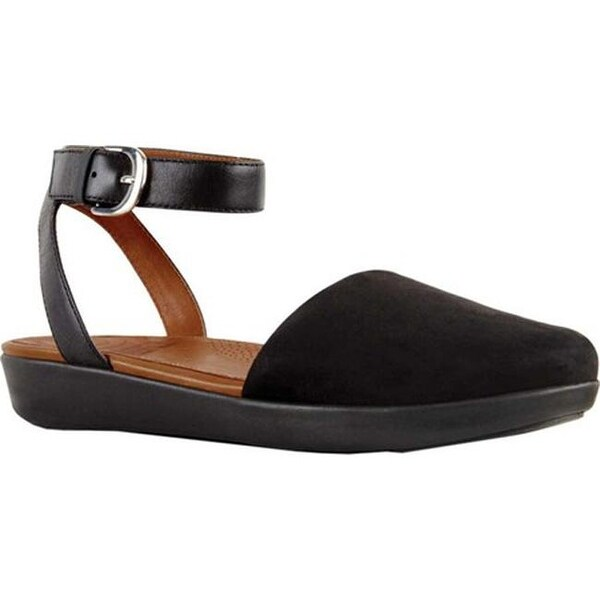 91aecb2d7 Shop FitFlop Women's Cova Closed Toe Sandal Black Suede - Free ...