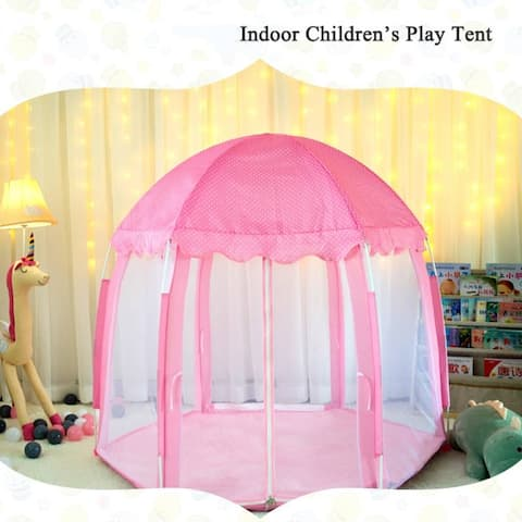 """Global Pronex Portable Large Outdoor Indoor Portable Folding Kids Play Tent Game Toy House - 51"""" x 55"""""""