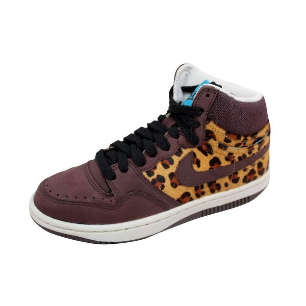 Nike Women's Court Force Hi Premium Madeira/Madeira-Black Cheetah 317072-221