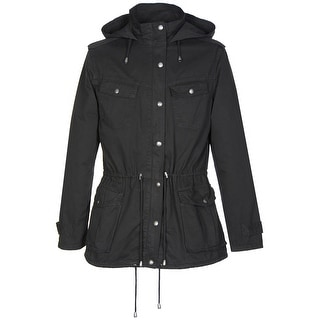 Buffalo David Bitton Anorak Jacket for Women Medium Black Hoody Ladies