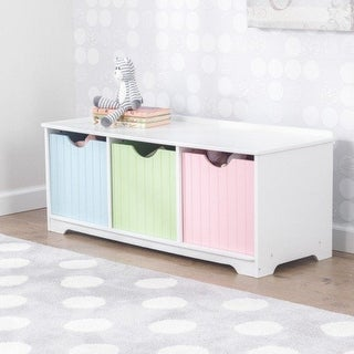KidKraft: Nantucket Storage Bench - Pastel