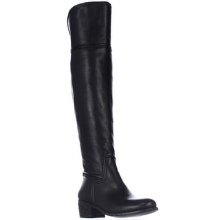 Vince Camuto Baldwin Round Toe Over the Knee Boots - Black
