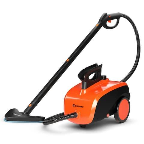 Costway 1500W Heavy Duty Steam Cleaner Mop Multi-Purpose Steam - 16''(L) x 9.5''(W) x 11''(H)