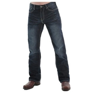B. Tuff Western Denim Jeans Mens Country Road Dark Wash