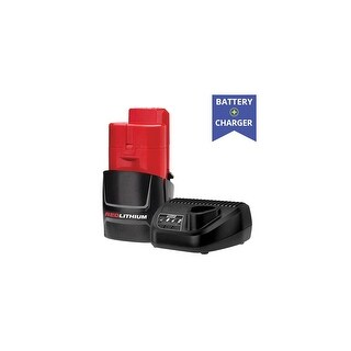 Replacement Milwaukee 48-11-2401 Battery and Replacement Milwaukee 48-59-2401 Charger (Combo Pack) Replacement Battery