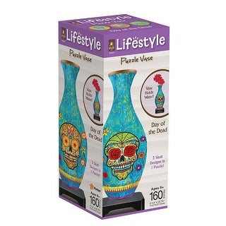 Day of the Dead 160 Piece 3D Puzzle Vase
