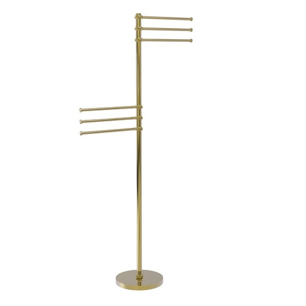 Allied Brass Towel Stand with 6 Pivoting 12-in Arms