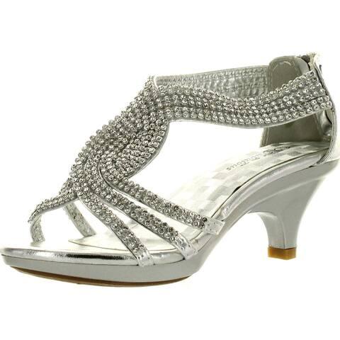 Forever Link Girls Angel-37K Dressy Heel Sandals