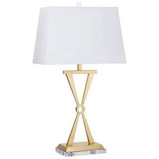 Cyan Design Bach Table Lamp Bach 1 Light Accent Table Lamp with White Shade - Brass