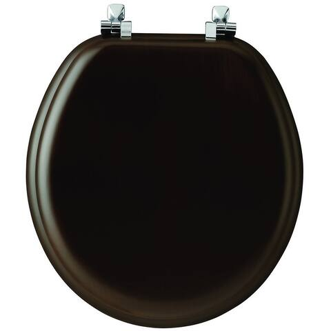 Mayfair 9601CP-888 Natural Walnut Wood Toilet Seat