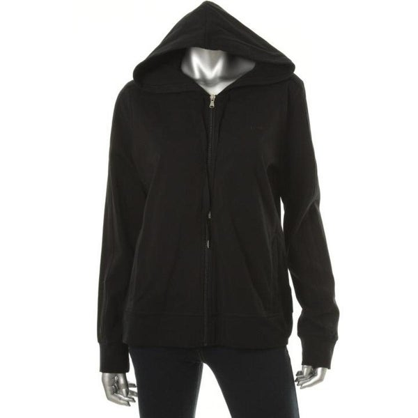 Lauren Active Womens Hoodie Knit Zip Front