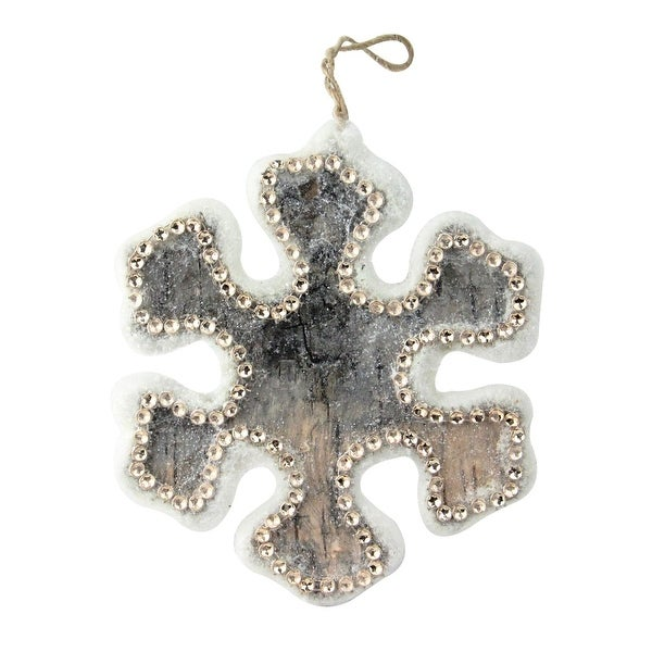 """6.25"""" Embellished Snowflake Decorative Christmas Ornament - brown"""