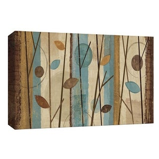 "PTM Images 9-154048  PTM Canvas Collection 8"" x 10"" - ""Modern Forest Blue"" Giclee Branches Art Print on Canvas"