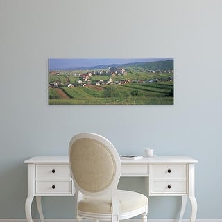 Easy Art Prints Panoramic Images's 'Buildings in a town, Kluszkowce, Tatra Mountains, Poland' Premium Canvas Art